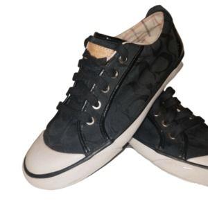 Coach Barrett Signature Black Jacquard Sneaker 7.5